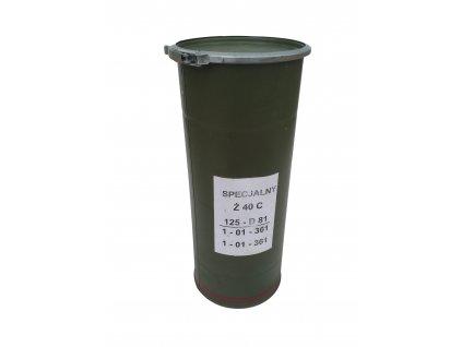 Kovová tuba (pouzdro) pro tankový projektil ráže 125 mm oliv originál