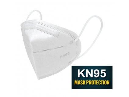 Ochranná rouška KN95 (FFP2) respirátor 2 kusy