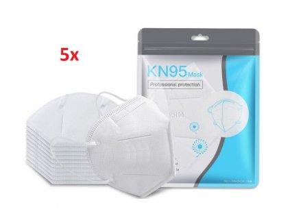 Kayleinster ochranná rouška KN95 (FFP2) respirátor 5 kusů