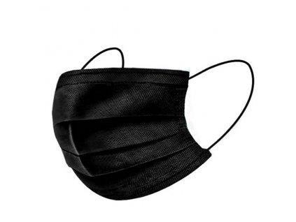 Ochranná rouška 3 vrstvá  (FFP1) černá 5 kusů