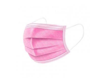 Ochranná rouška 3 vrstvá (FFP1) pink růžová 5 kusů