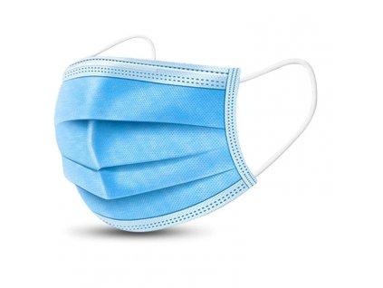 Ochranná rouška 3 vrstvá  (FFP1) modrá 5 kusů