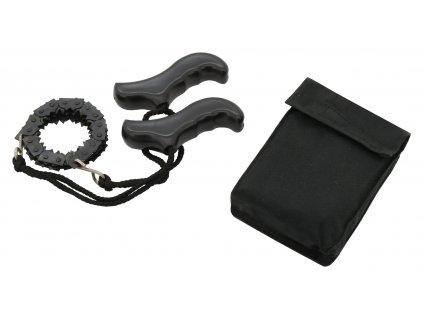 Pila kapesní řetězová černá Cattara 100cm skládací