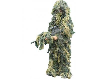 Dětský maskovací oblek Hejkal (Ghillie Suit) woodland 4-dílný Kombat