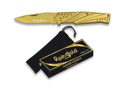 Zlatý zavírací nůž RAIN GOLD 3Cr13Mov Albainox 18269