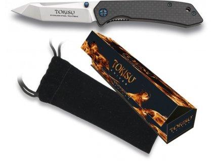 Zavírací nůž TOKISU Carbon fiber EDC 18451 G10