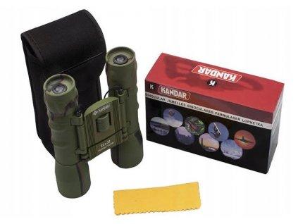 Dalekohled Kandar 22x32 Porro Prism Binoculars maskovaný woodland