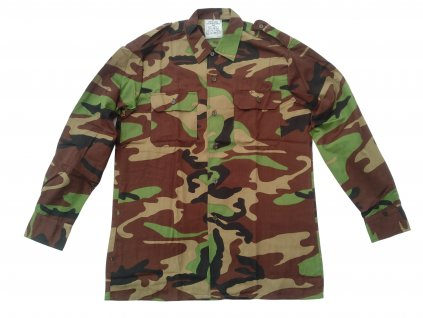 Košile BW (Bundeswehr) camo dlouhý rukáv originál