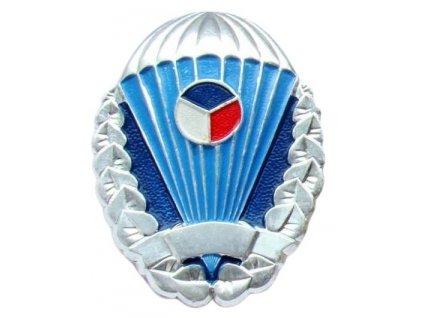 Odznak pro výsadkáře Armády České republiky stříbřitý originál