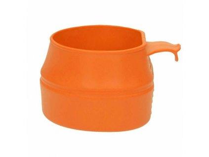 Hrnek plast oranžový skládací Švédsko 200ml WILDO orange