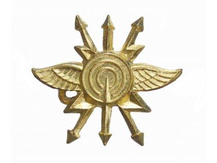 Odznak rozlišovací AČR spojovací vojsko zlatový originál