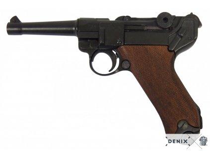 Pistole Parabellum Luger P.08  s dřevěnou pažbou Německo 1898