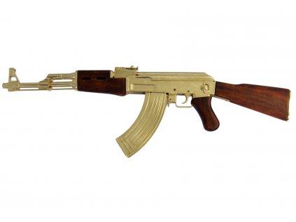 AK47 zlatá útočná puška Kalašnikov (samopal) Rusko 1947