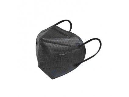 Černý ochranný respirátor FFP2 NR Protective Mask 6-vrstvý