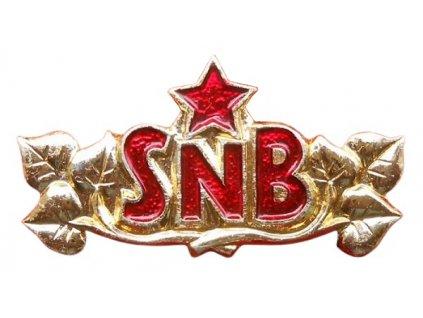 Nárameníkový odznak SNB zlatavý Sbor národní bezpečnosti