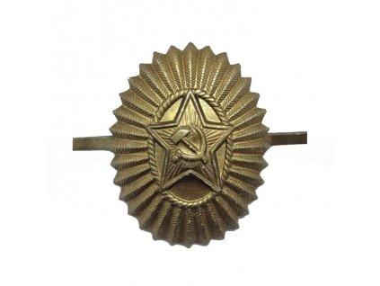 Odznak kokarda polní na čepici důstojníka sovětské armády originál