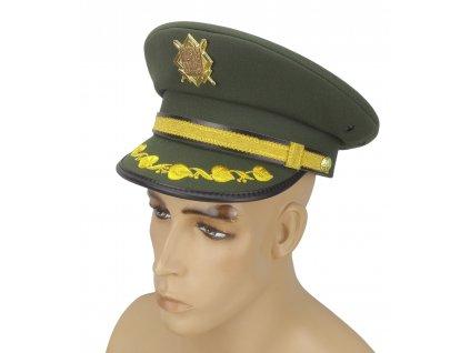Brigadýrka s odznakem a ratolestí generál AČR zelená vz.97 originál