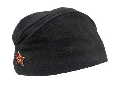 Čepice lodička černá námořní s odznakem Rusko originál