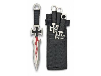 Nože Cross házecí (vrhací) set 3 kusy Albainox 31884
