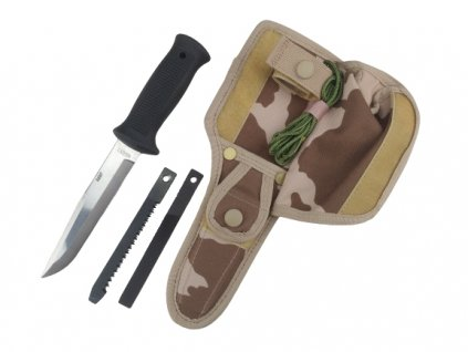 Nůž Uton Mikov 392-NG-4 75/MNS-2000 AČR vz.95 desert serie 0007 kryté maskovací pouzdro