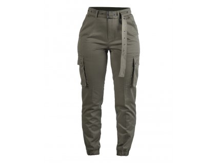 Kalhoty army dámské Cargo oliv zelené