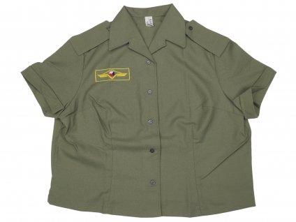 Košile (bundokošile) ČSLA dámská krátký rukáv khaki