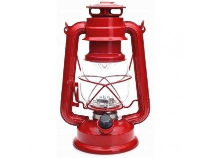 Retro campingová lampa (petrolejka) Falcon Eye II Led červená