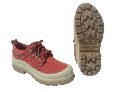 Boty AIGLE nízké červené