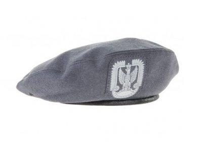 Baret šedý (ocelový) s orlicí Polsko WP originál
