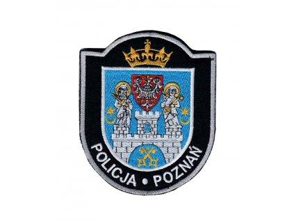 Nášivka policie Polsko POLICJA  POZNAŇ velcro