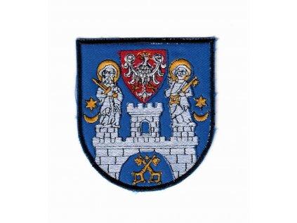 Nášivka vyšívaný odznak,erb Poznaně na uniformu originál