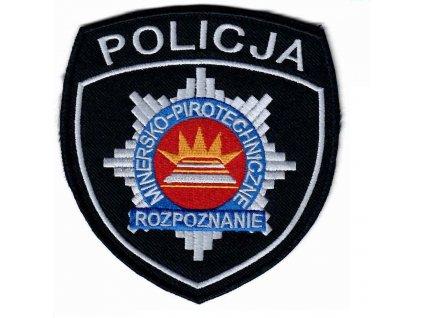 Nášivka policie těžba a pyrotechnický průzkum POLICJA MINERSKO-PIROTECHNICZNE ROZPOZNANIE originál