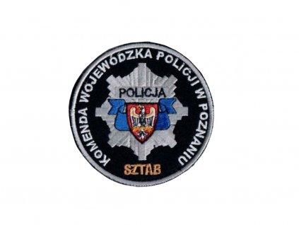 Nášivka personál vojvodství policejního ředitelství v Poznani (KOMENDA WOJEWÓDZKA POLICJI W POZNANIU SZTAB) velcro originál