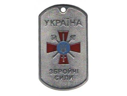 Identifikační známka Ukrajina ID Dog Tag Zbrojní síly stříbrná