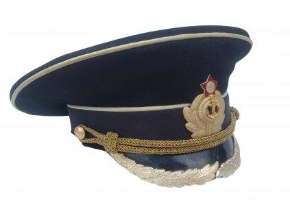 Brigadýrka námořní důstojník černá (čepice SSSR) originál