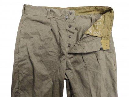Kalhoty SSSR (Rusko,CCCP) důstojnické vycházkové khaki originál