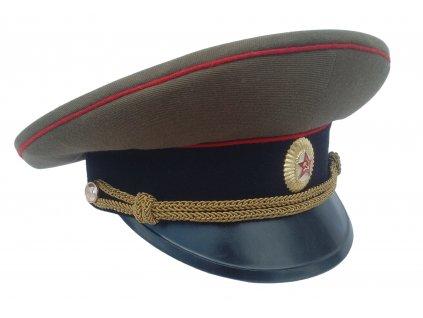 Brigadýrka důstojník khaki SSSR (Rusko,CCCP) červené lemování originál