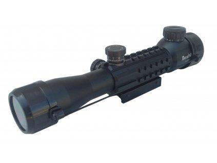 Puškohled model 4 x 32 EG s přísvitem zoom Rifle Scope Boshile  (zaměřovač,optika) montáž 11 mm