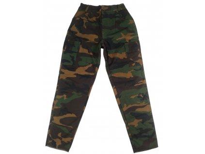 Kalhoty BDU dětské US woodland zateplené