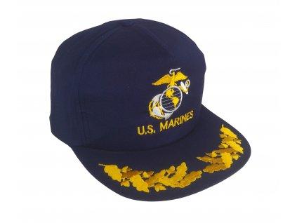 Čepice kšiltovka s výšivkou U.S. Marines modrá vintage 90s