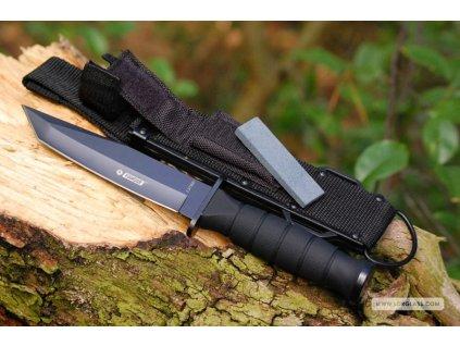 Taktický útočný nůž Tanto Kandar N-314 s pouzdrem a brouskem