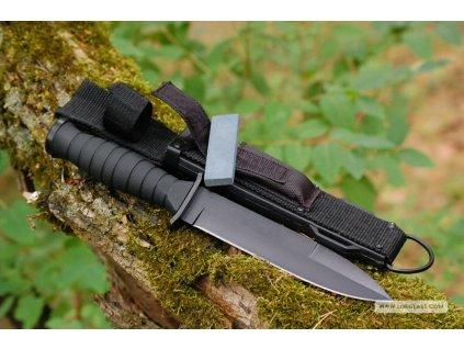 Taktický útočný nůž Kandar N-315 s pouzdrem a brouskem