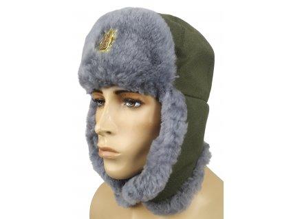 Beranice (ušanka) čepice 97 zimní šedá kožešina originál AČR