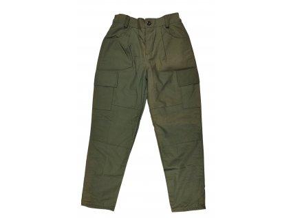 Kalhoty BDU dětské US oliv ripstop zateplené