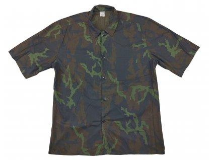 Košile se zeleným potiskem vz.95 krátký rukáv