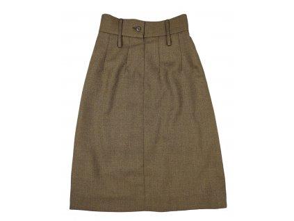 Sukně vycházková dámská Velká Británie khaki originál