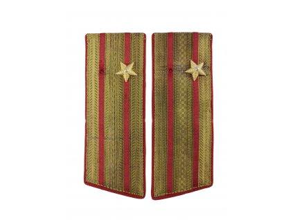 Výložky major SSSR Rusko červeno zlaté originál