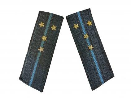 Výložky kapitán ministerstvo vnitra SSSR Rusko šedo modré originál
