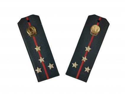 Výložky armádní kapitán Bělorusko šedo červené originál