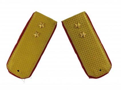Výložky SSSR Rusko žluto červené s hvězdou originál